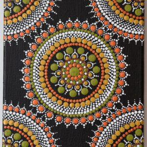Acrylic abstract dot Mandala painting