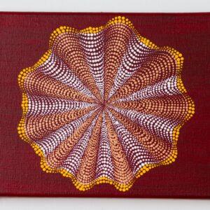 red 3D mandala, 3D painting, dot mandala
